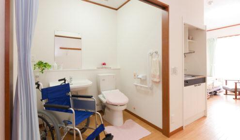 車椅子仕様のトイレ・洗面
