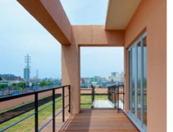 開放的な屋上庭園