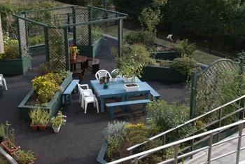屋外ガーデンがございます。