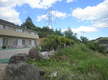 お庭も広く、緑に囲まれた好環境です。